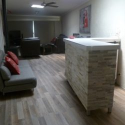 Residential tilers stacked stone bar Ballarat